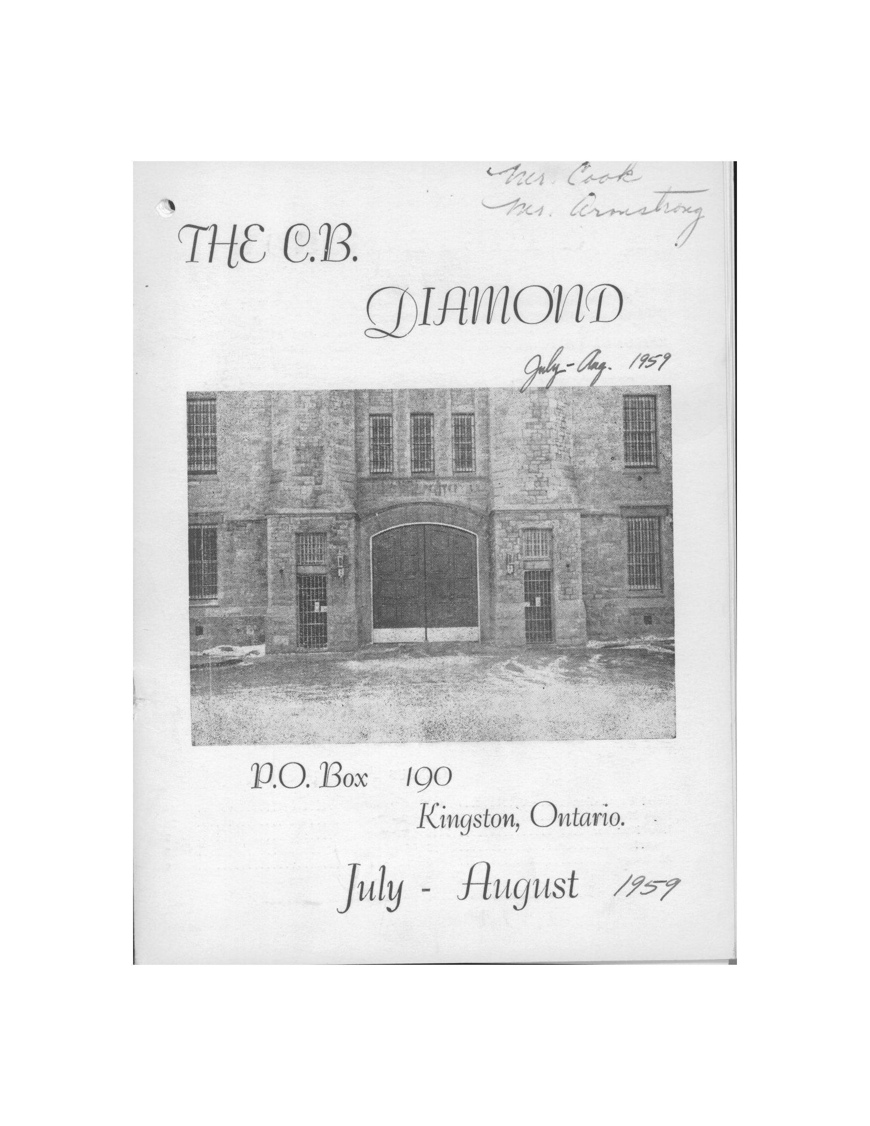 Read more about the article C.B. Diamond – Jul/Aug 1959