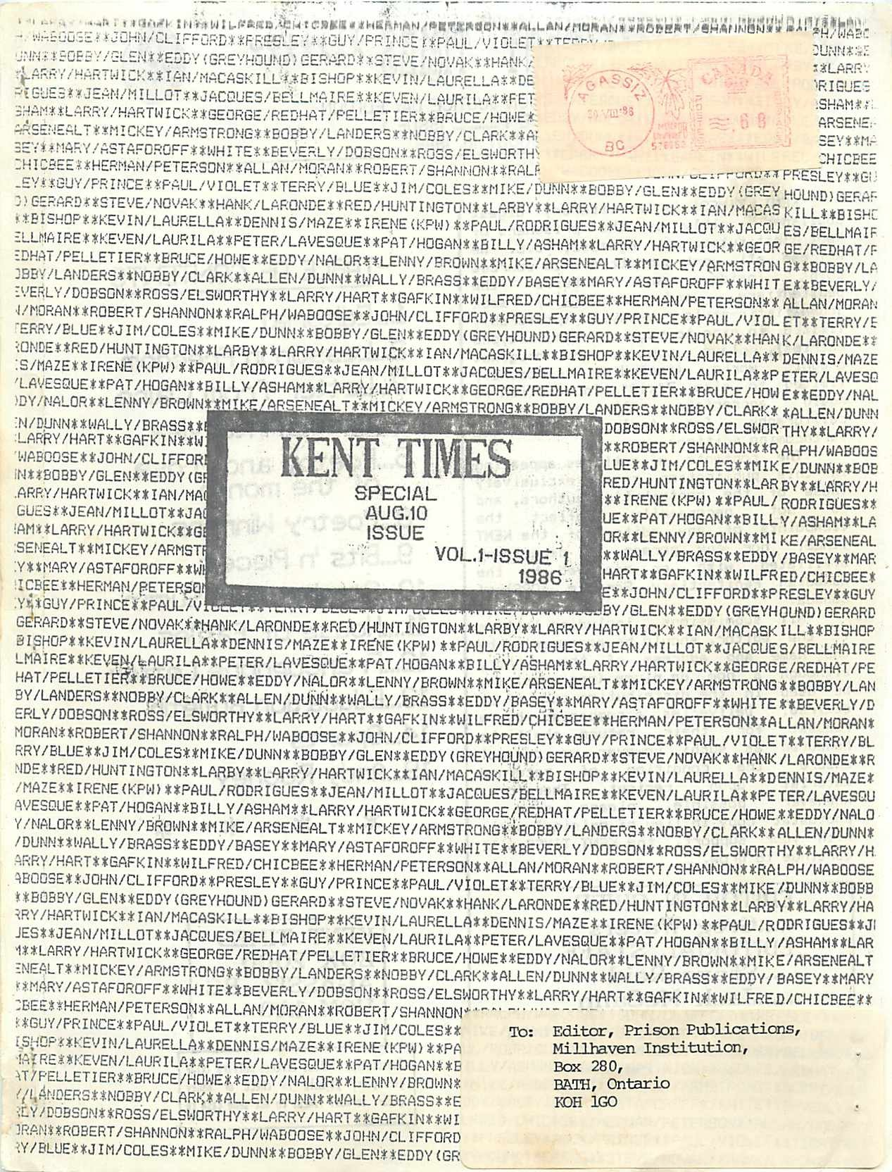 Read more about the article Kent Times v1(1)