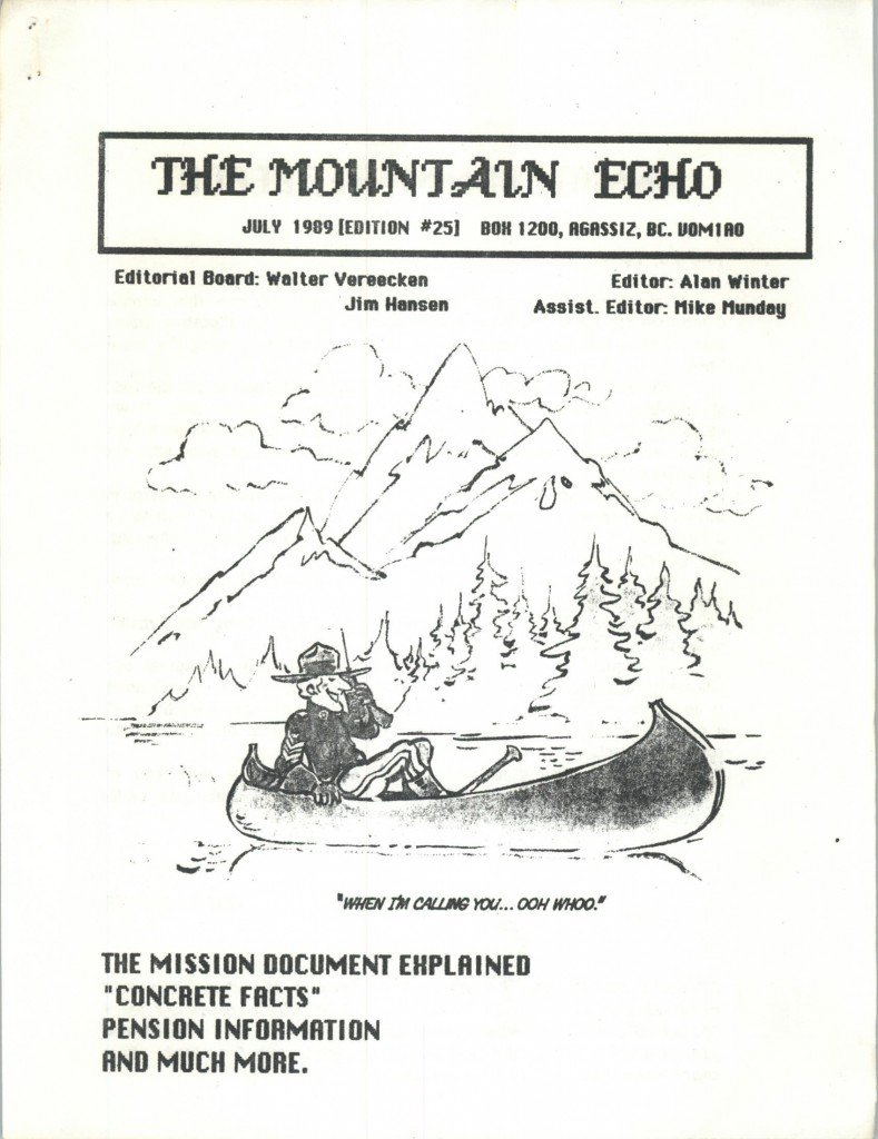 Read more about the article The Mountain Echo – July 1989