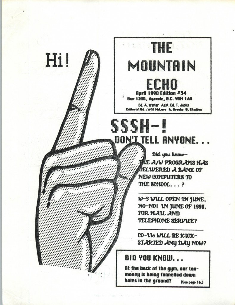 Read more about the article The Mountain Echo – April 1990