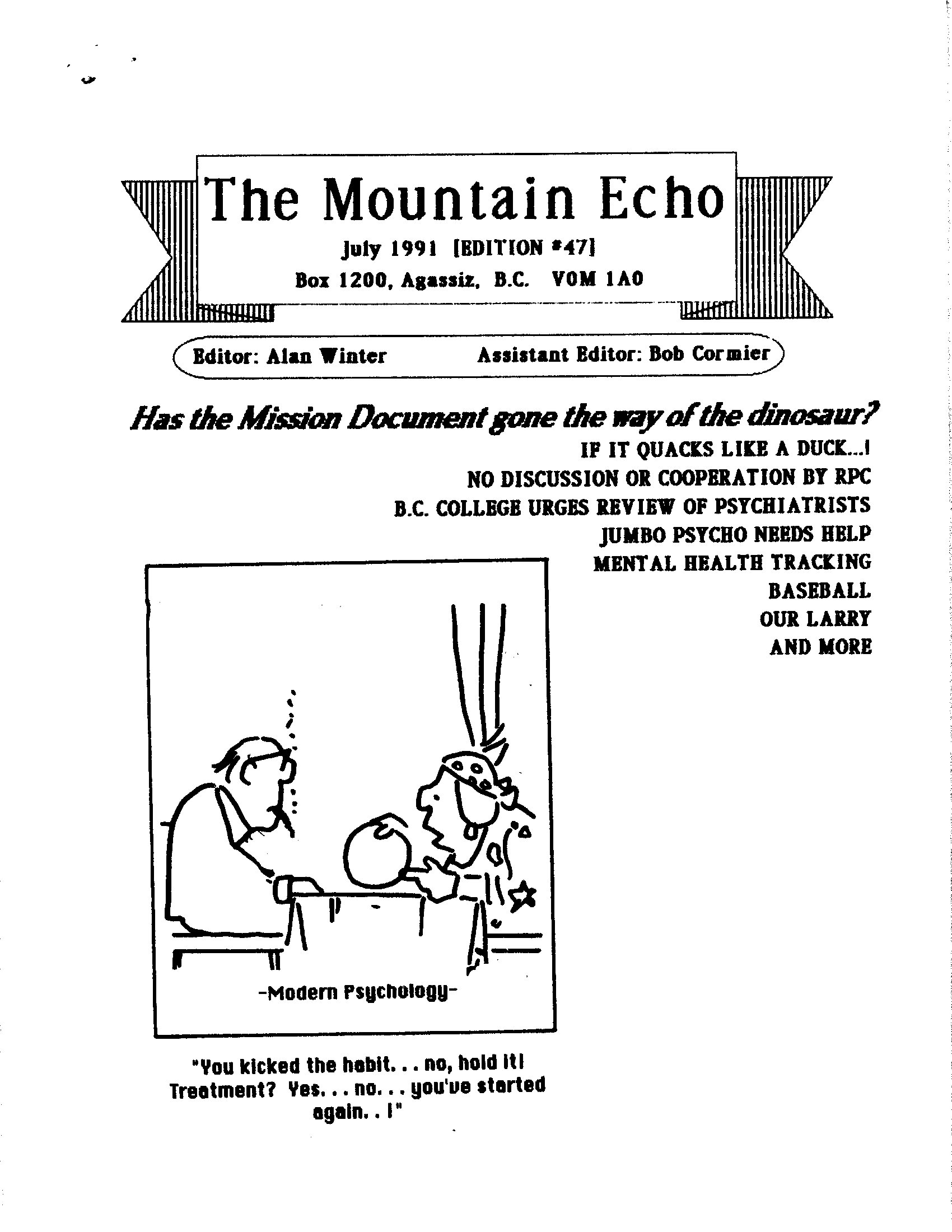 Read more about the article The Mountain Echo – July 1991