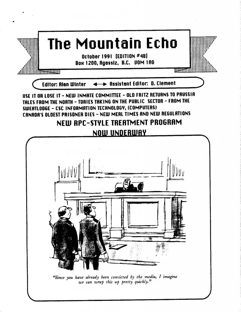 Read more about the article The Mountain Echo – October 1991