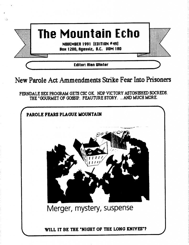 Read more about the article The Mountain Echo – November 1991