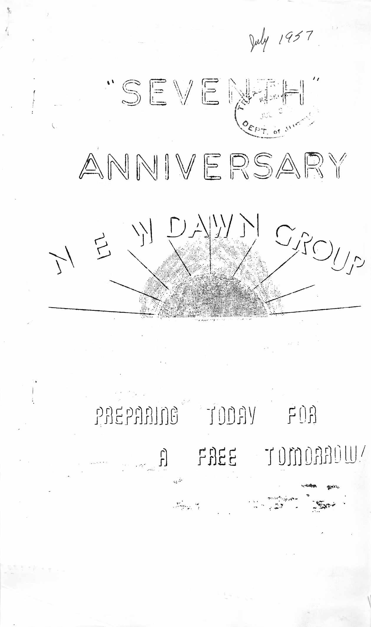 Read more about the article New Dawn – July 1957