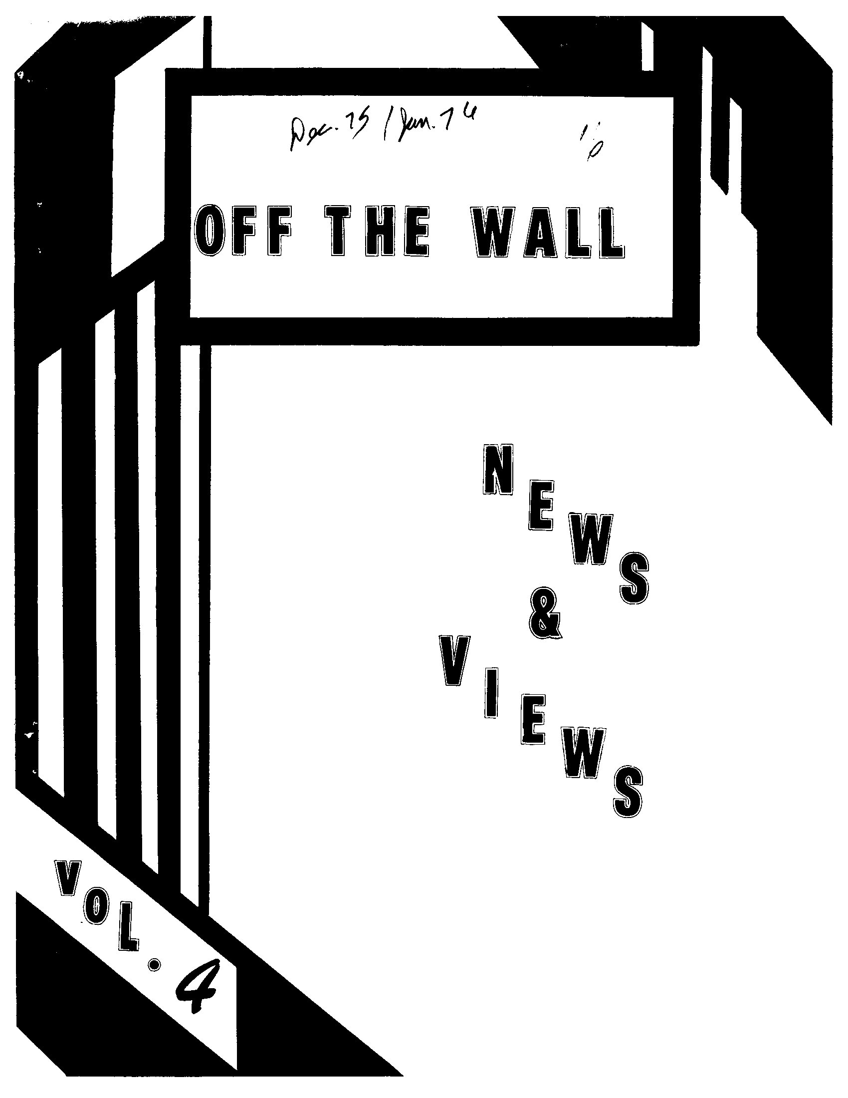 Read more about the article Off the Wall – Dec 1975/Jan 1976