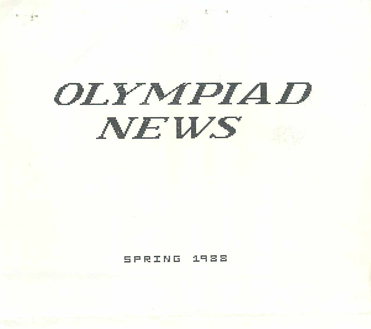 Read more about the article Olympiad News – Spring 1988