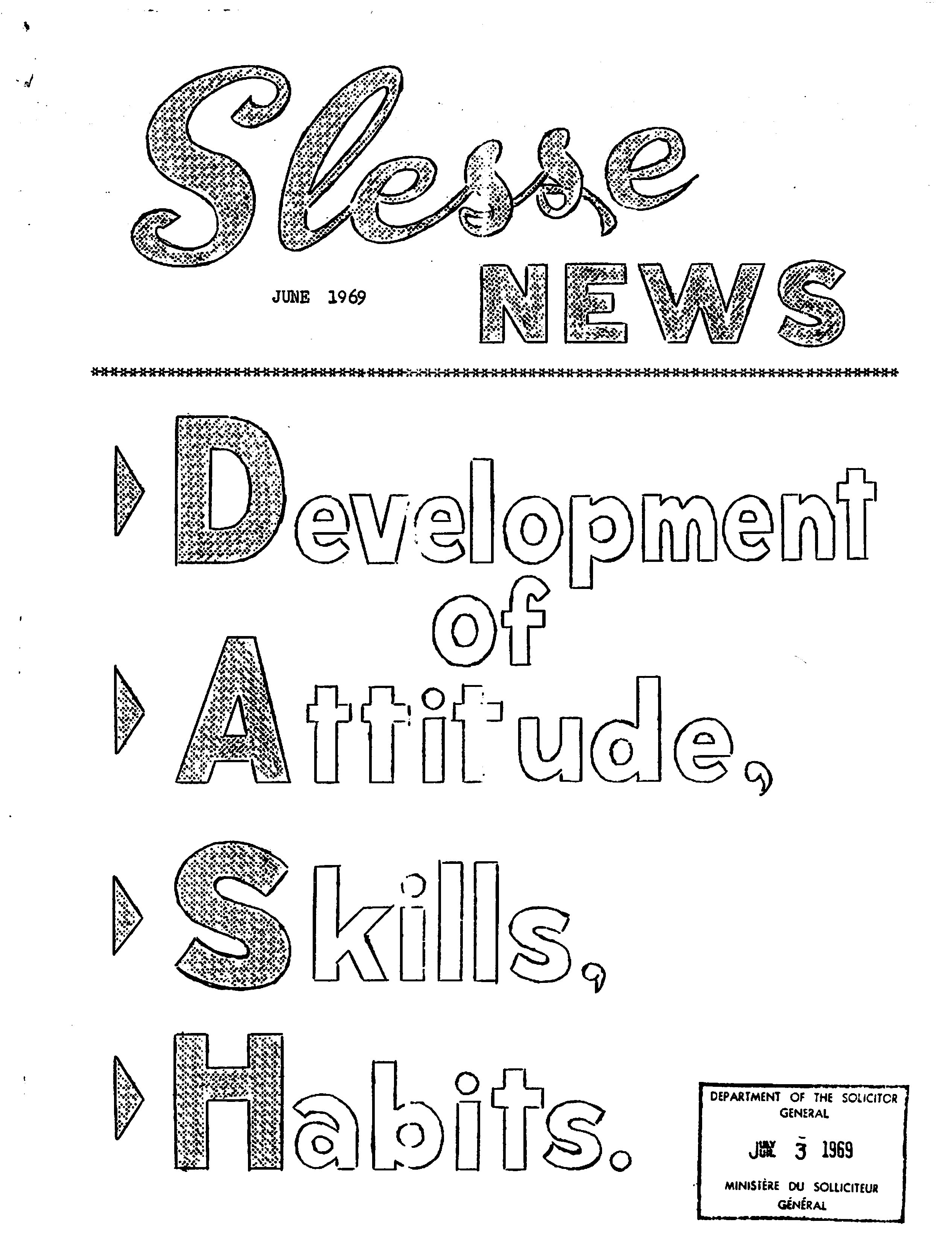 Read more about the article Slesse News – June 1969