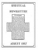 Read more about the article Spiritual Newsletter – August 1987
