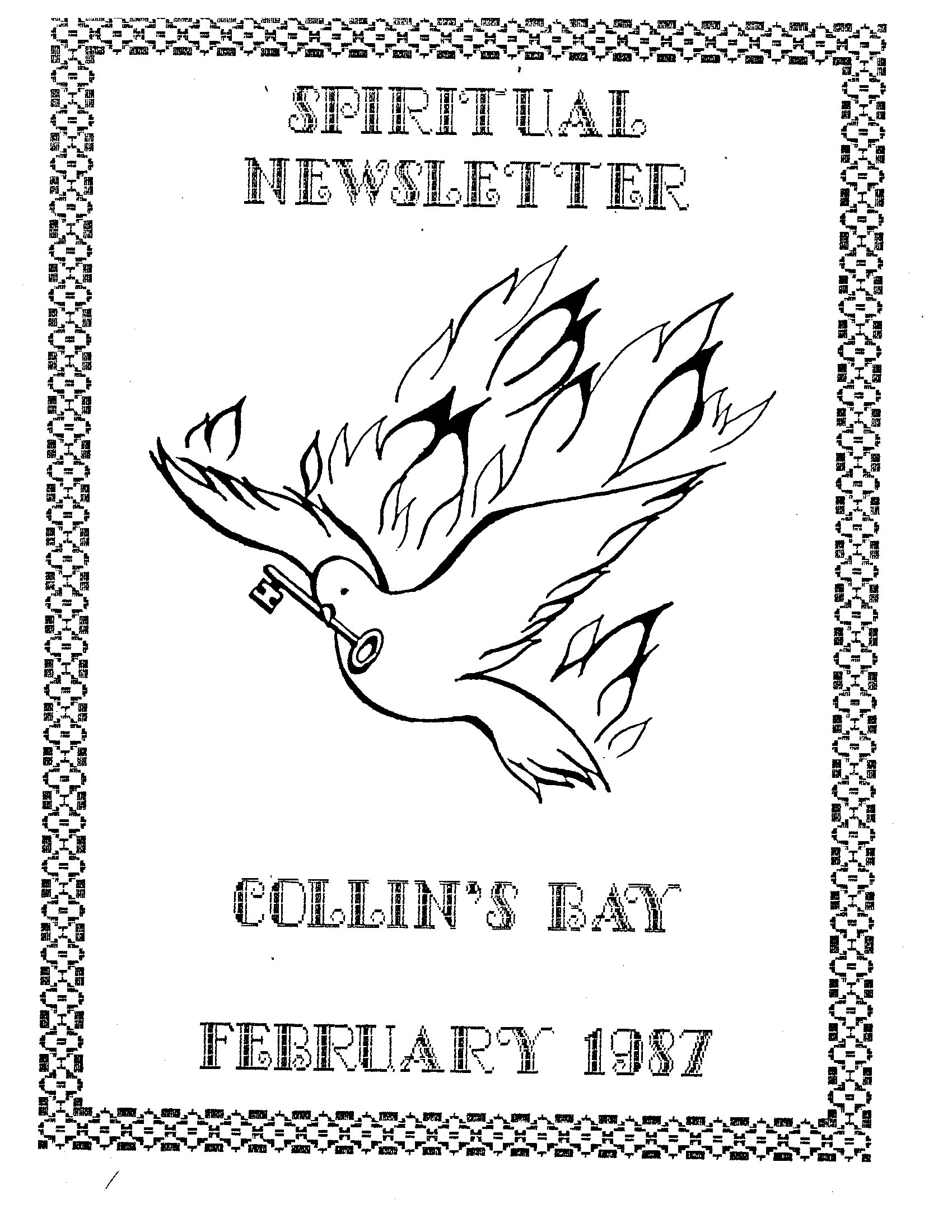 Read more about the article Spiritual Newsletter – February 1987