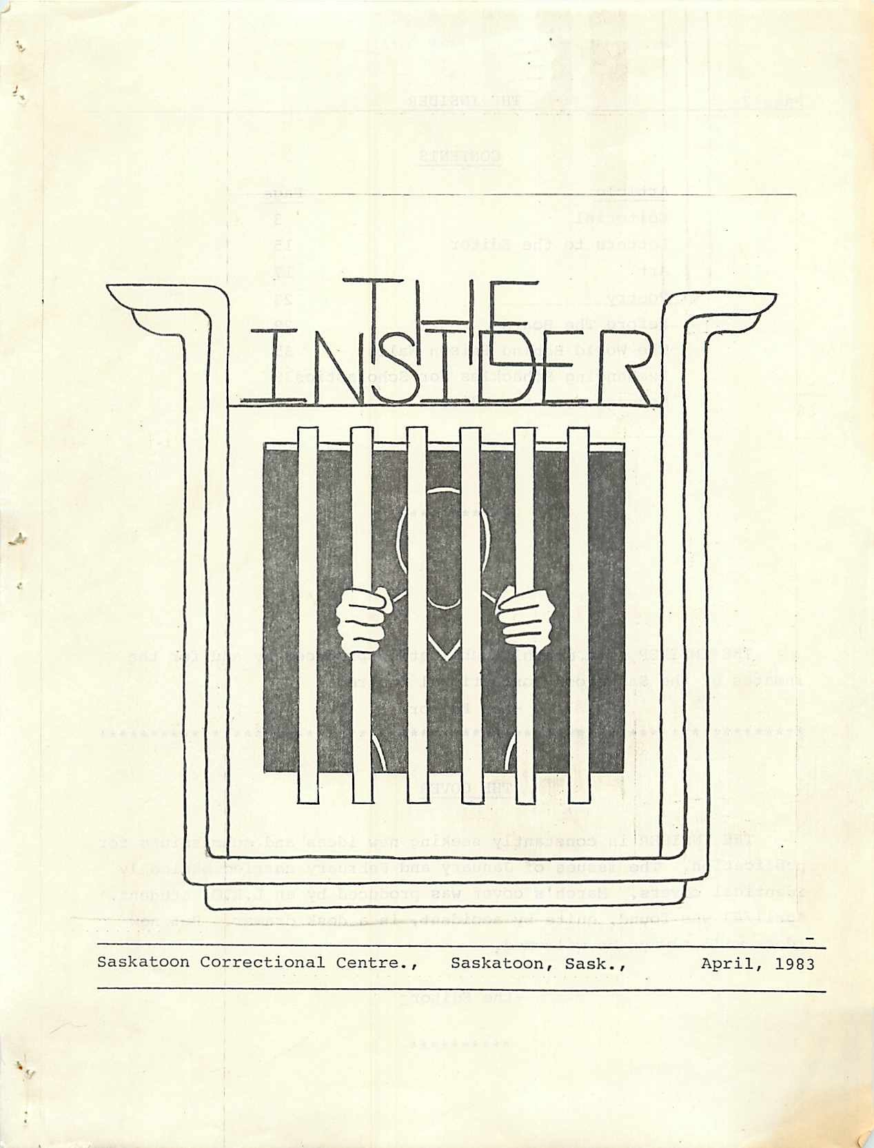 Read more about the article The Insider – April 1983