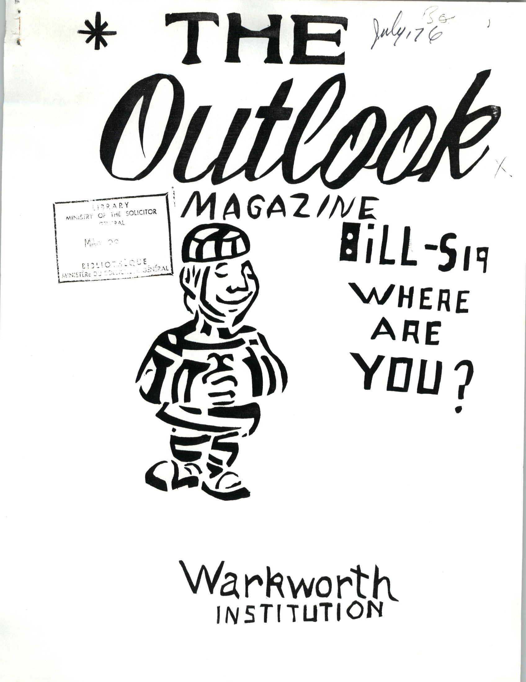 Read more about the article The Outlook – July 1976
