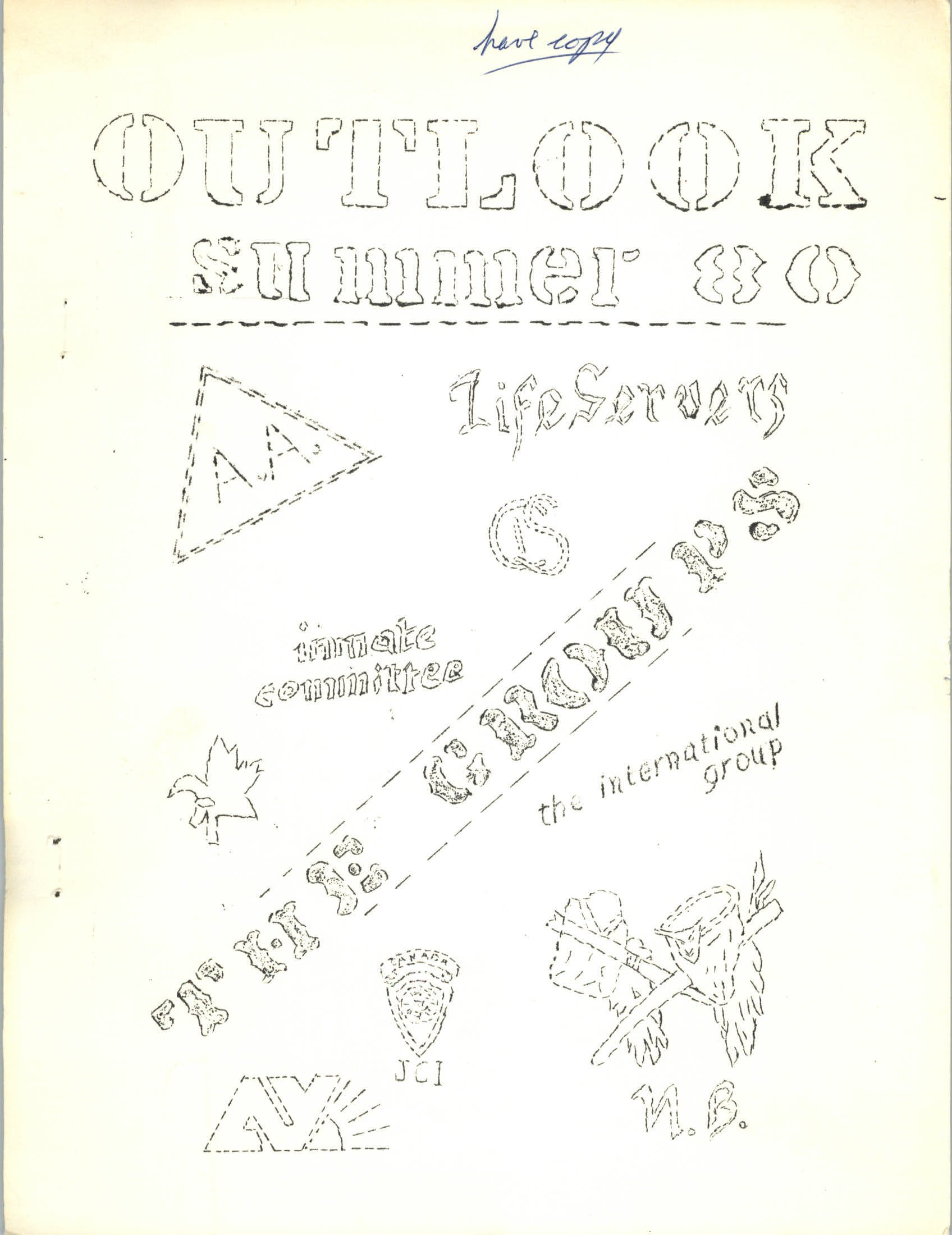 Read more about the article The Outlook – Summer 1980