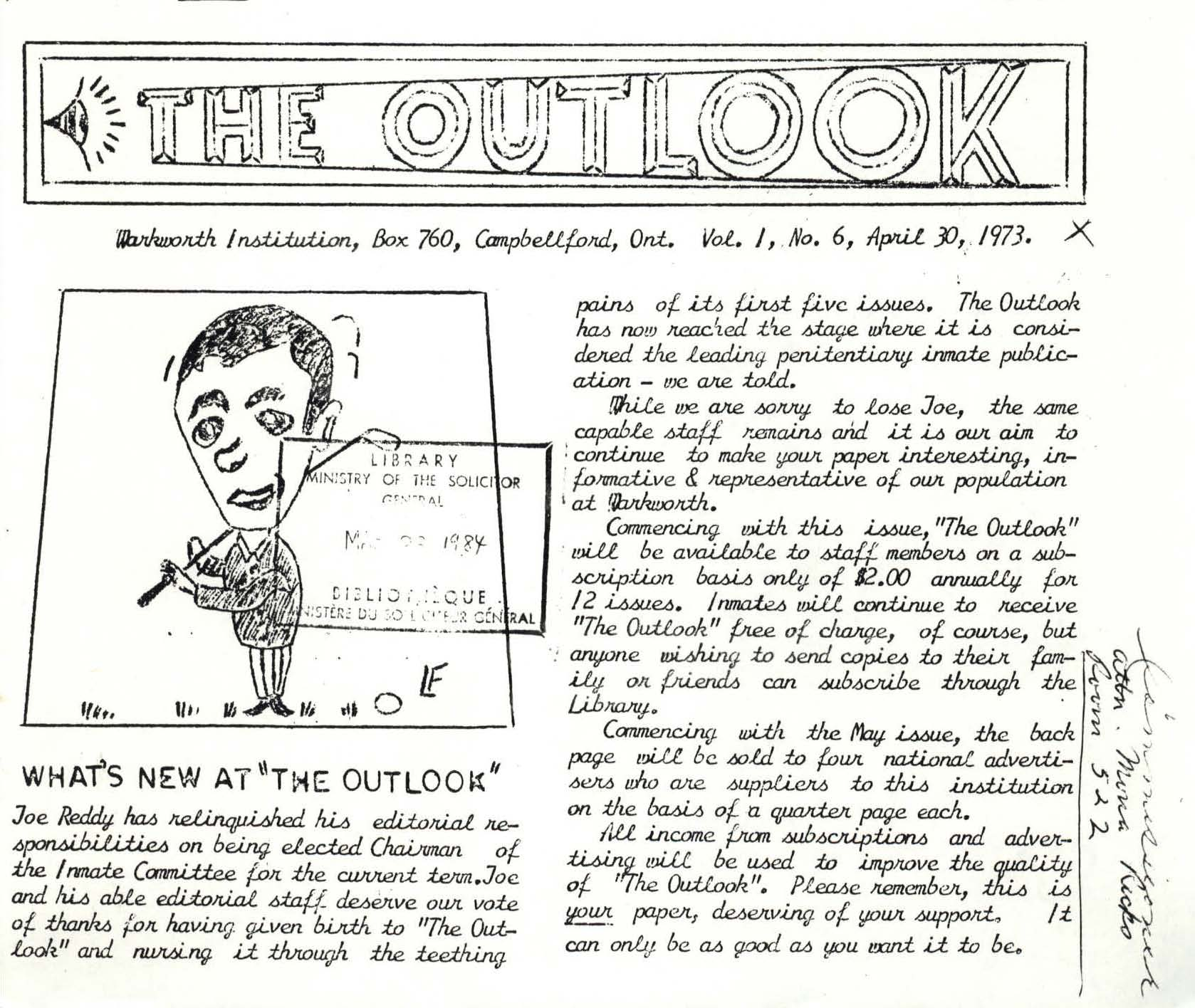 Read more about the article The Outlook – April 1973