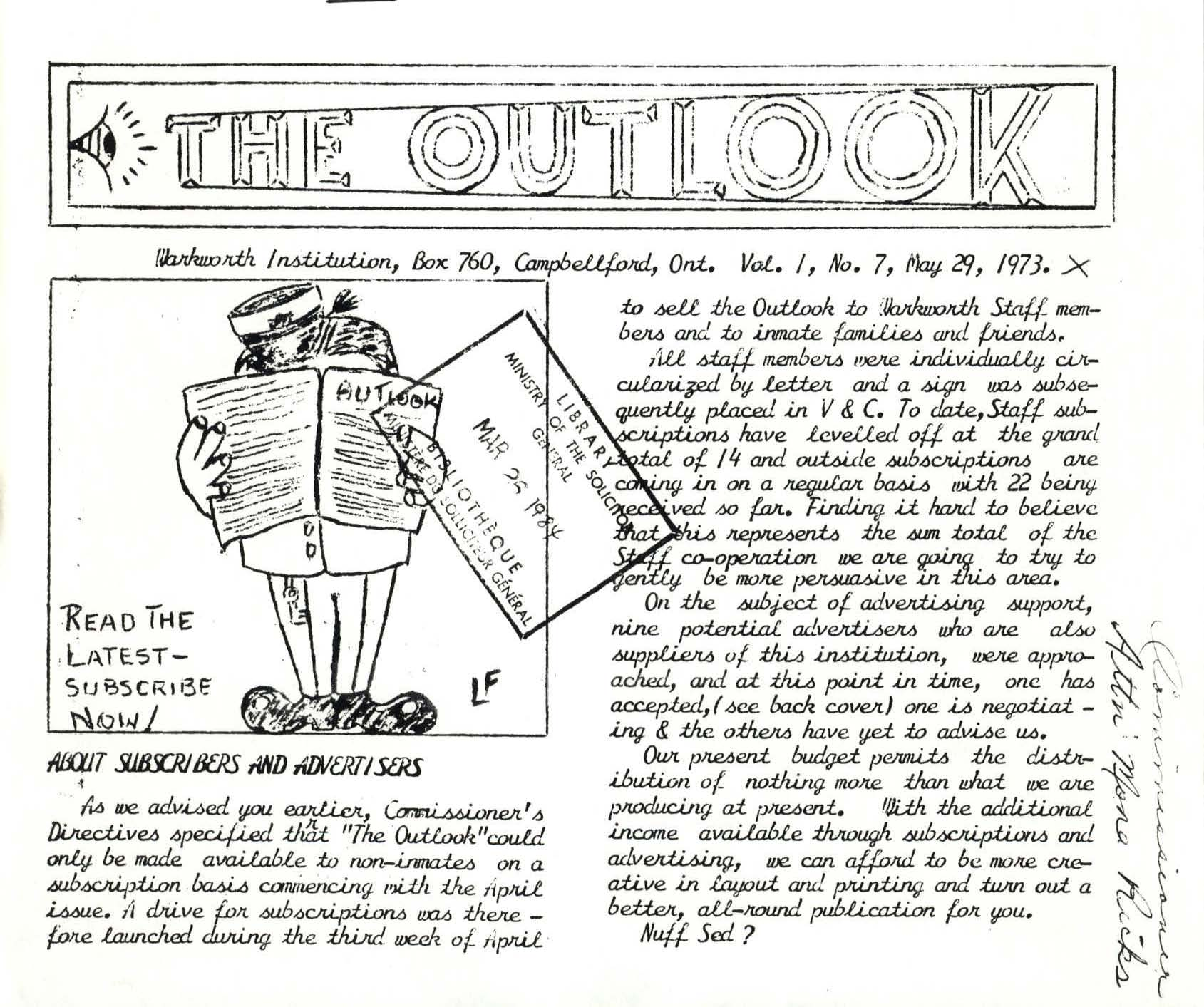 Read more about the article The Outlook – May 1973