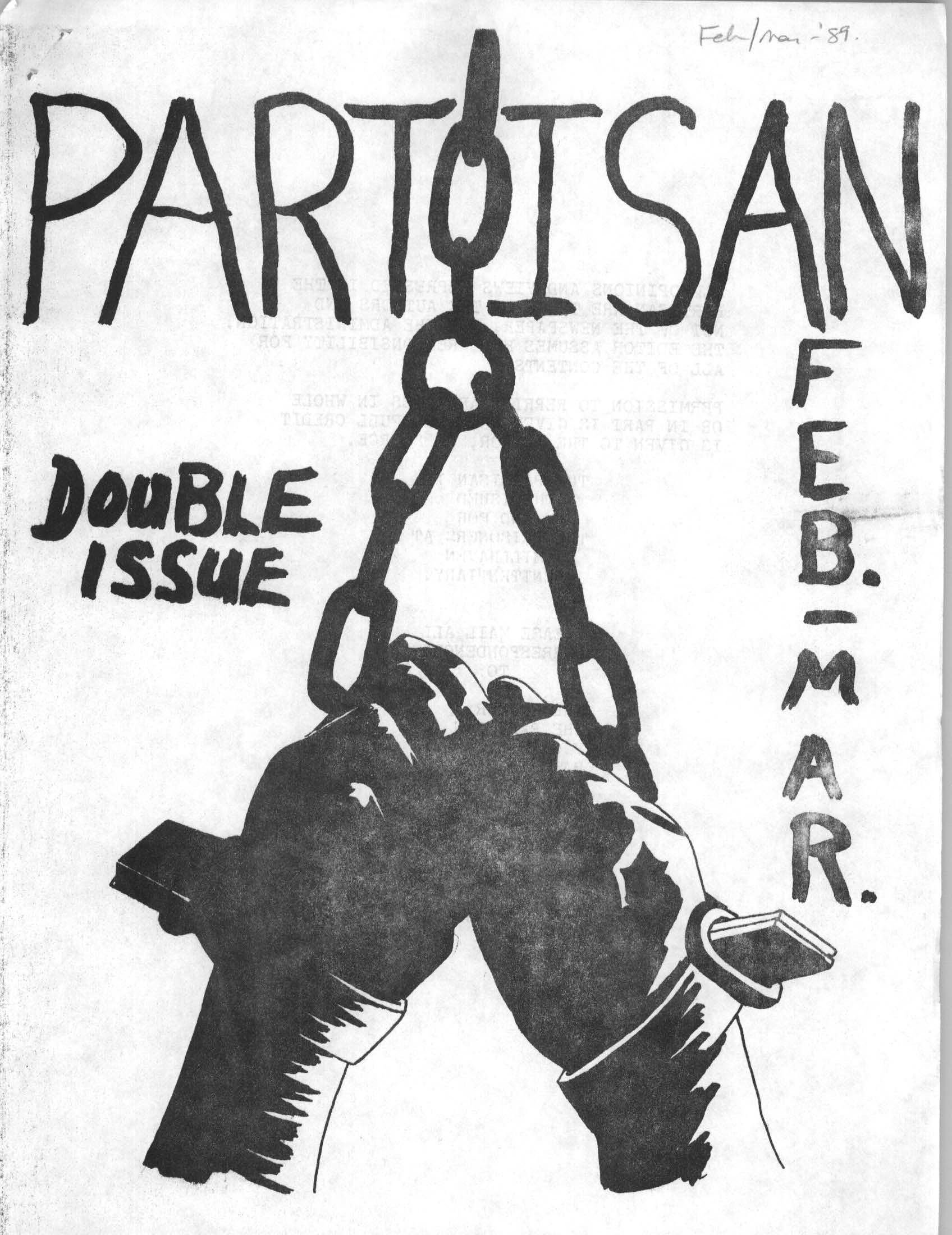 Read more about the article The Partisan – Feb/Mar 1989