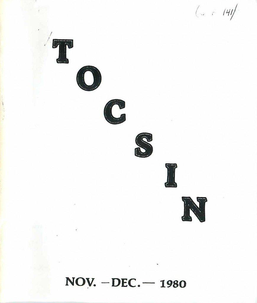 Read more about the article Tocsin – Nov/Dec 1980