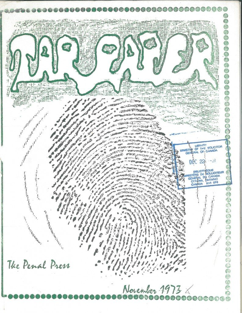 Read more about the article Tarpaper – November 1973